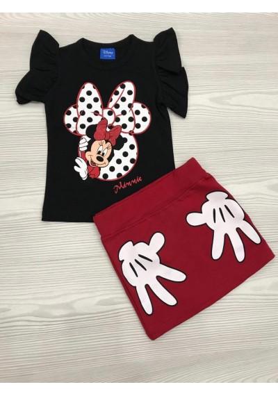 Minnie μπλούζα φούστα για τα κορίτσια
