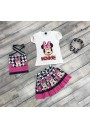 Minnie μπλούζα φούστα,τσάντα και κορδελα