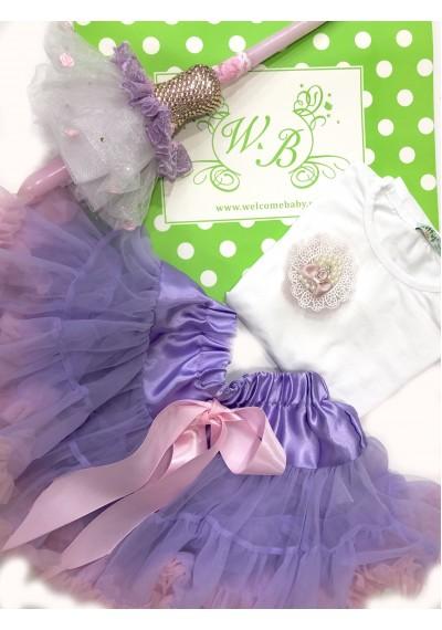 Petti Purple Φούστα μπλούζα σετ
