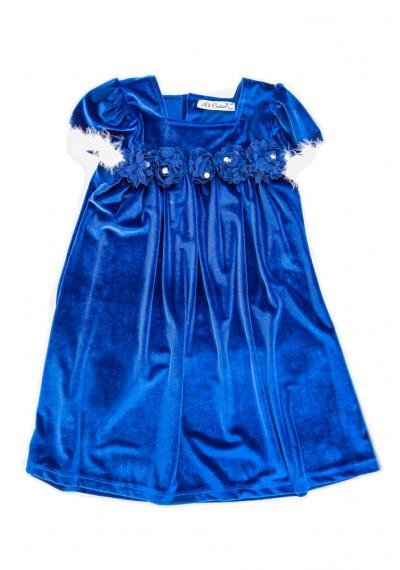 Mery Jane βελούδινο φόρεμα σκούρο μπλε