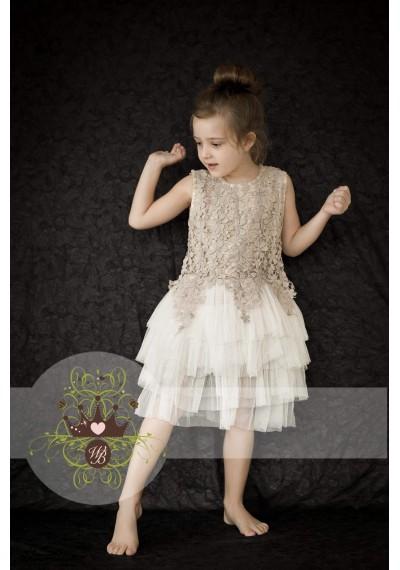 Sarah Κεντημένο φόρεμα με δαντέλα