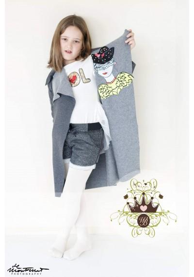 Little Star σχεδιασμένο μάλλινο μπουφάν