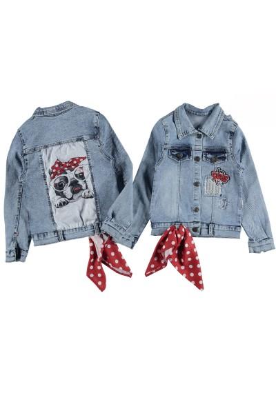 Puppy jean jacket για τα κορίτσια
