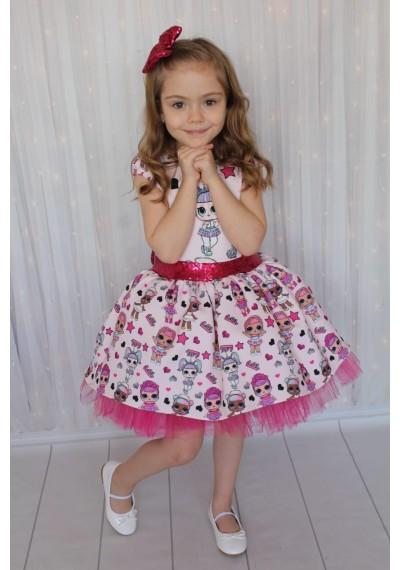 Lol tutu φόρεμα για κορίτσια με κορδέλα
