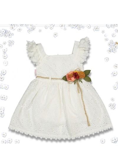 WB Φόρεμα από δαντέλα και λινά