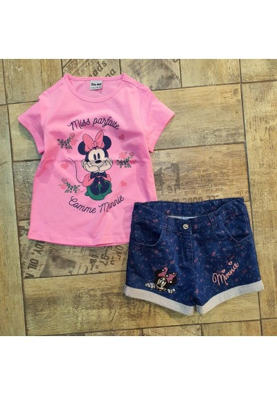 Minnie Jean Shorts with Blouse for Summer