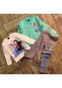Frozen ζακετα, μπλούζα, κολάν και στεκα για το σχολείο