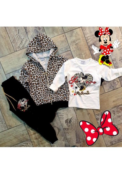 Minnie Leopard φόρμα 3 κομ.