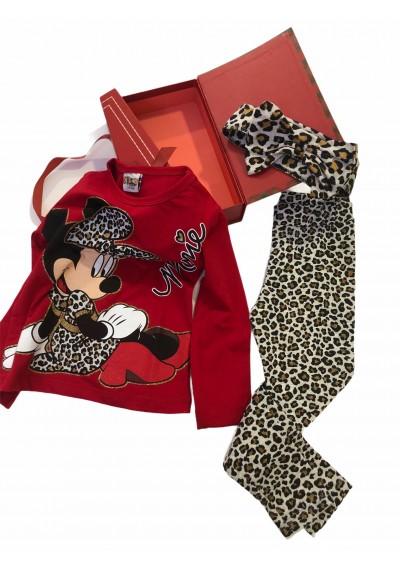 Minnie κολάν ,μπλούζα με κορδέλα