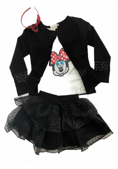 Little Star JAcket and Tutu SKirt Set με μπλούζα Minnie