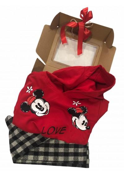 Minnie  φούτερ με κουκούλα και κολάν πακέτο δώρου