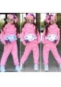 WB Cloud φόρμες για κορίτσια 4 τεμ.ροζ
