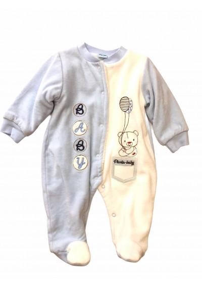 WB βελούδο Φορμάκια baby boy με γούνα