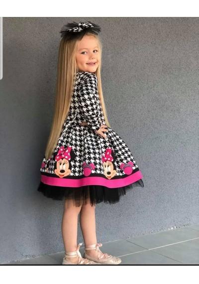Minnie Μακρυμάνικο Tutu φόρεμα με κορδέλα