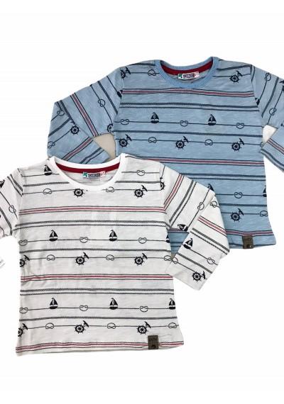 WB Μακρυμάνικη μπλούζα από βαμβάκι για αγόρια