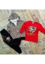 Minnie Leopard Jumpsuit Set for Girls,4 pcs.