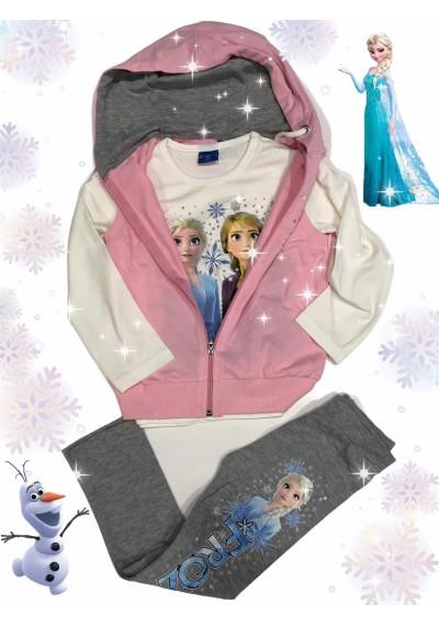 Frozen Γιλέκο .κολάν μπλούζα ,3 τεμ