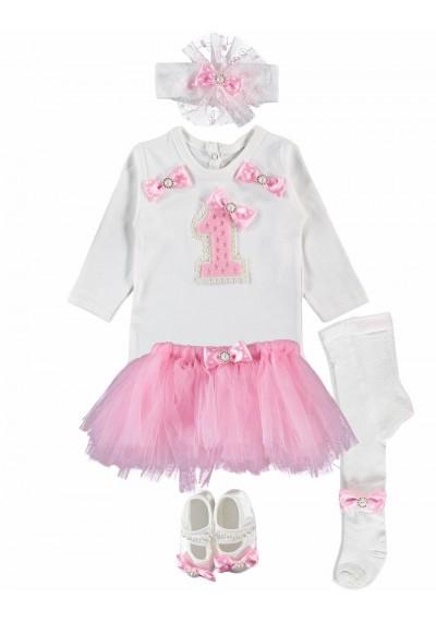 Babygirl Tutu Σετ για τα πρώτα γενέθλια
