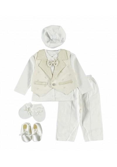 WB Baby Newborn suit Ecru σετ
