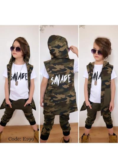 Swat Boy Set Μπλούζα, παντελόνι και καπέλο