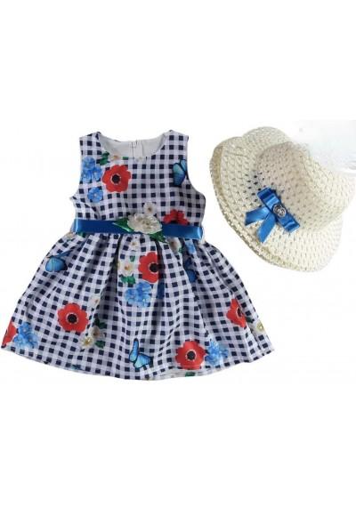 Celine Baby Girl Φόρεμα με καπέλο