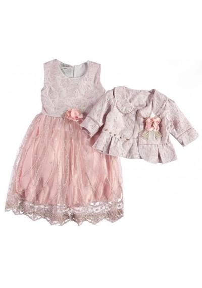 Mrs Murphy Unique Φόρεμα δαντέλα με μπολερό και κορδέλα