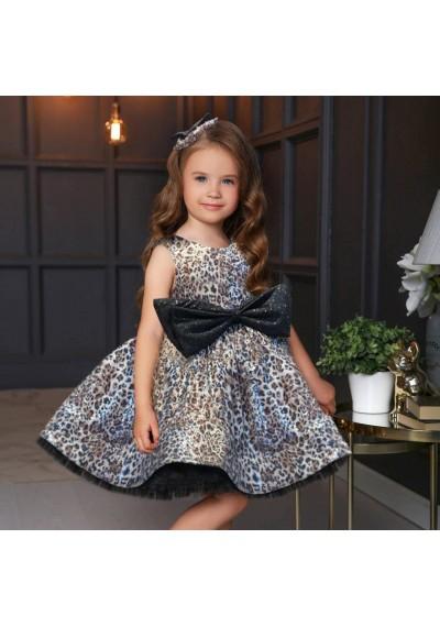 Leopard Couture Φόρεμα με Kordela