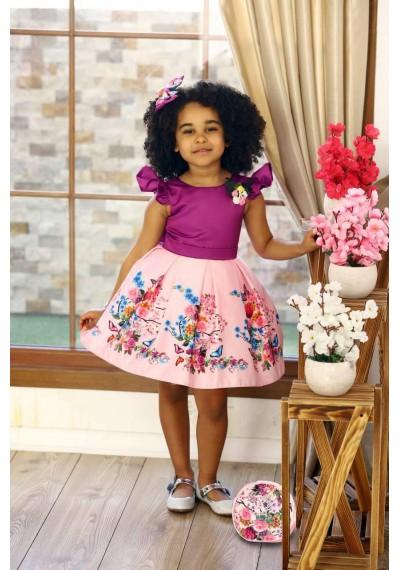 Daisy Tutu Flower Pink Dress with Bag