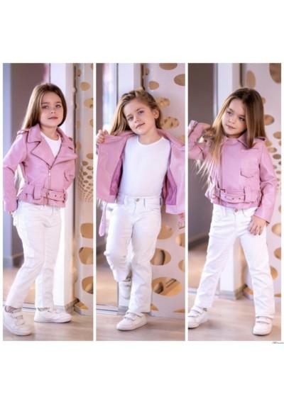 Tommy Σετ Δερμάτινο Faux Σακάκι Μπλούζα και παντελόνι για κορίτσια