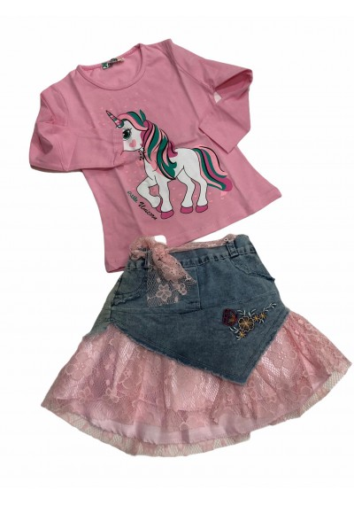 Unicorn Blouse and Jean Tulle Skirt