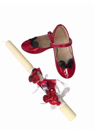 Minnie Παπούτσια μπαλαρίνας με Λαμπάδα για δώρο του Πάσχα