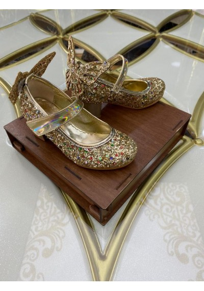 Butterfly κορίτσια Καλοκαιρινά Χρυσός παπούτσια με λάμψη