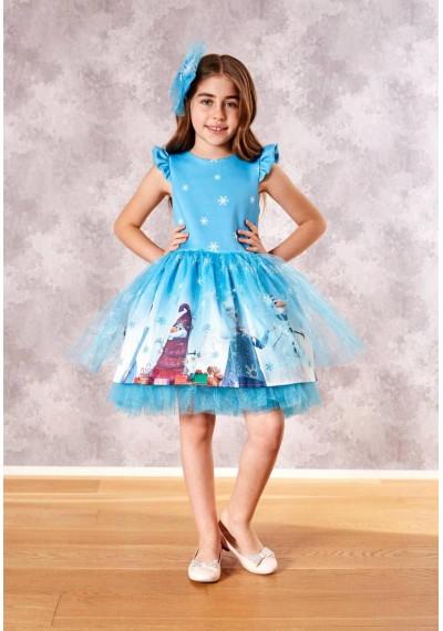 Frozen Luxury Φόρεμα με τον Κορδελά και τον Κάλσον