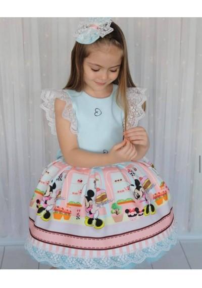 Minnie Φόρεμα με δαντέλα και κορδέλα