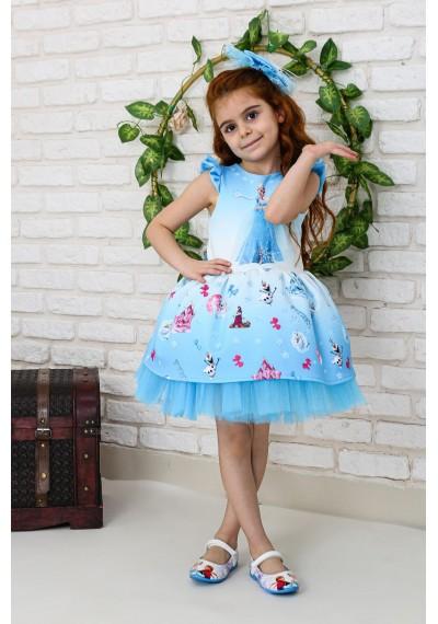 Frozen Tutu Φόρεμα με κουρδέλα