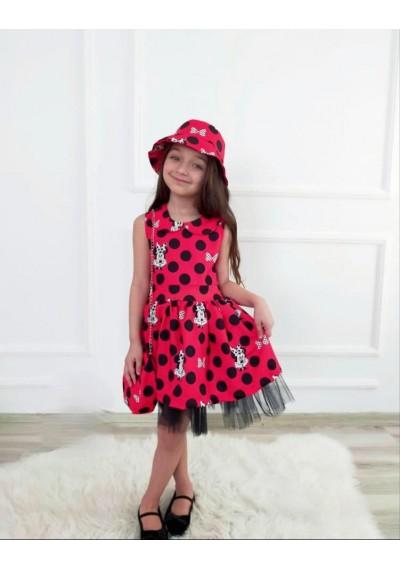 Minnie Φόρεμα με καπέλο και τσάντα