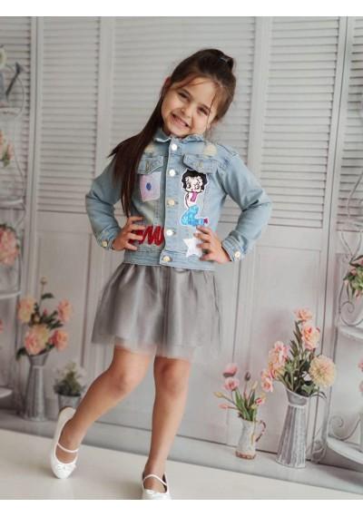 Sofie Τζιν σακάκι, πουκάμισο, φούστα Tutu