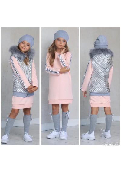 WB Φόρεμα με γιλέκο και καπέλο