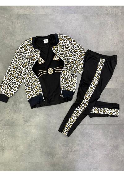 Leopard Cat Μπλούζα, σακακι και κολάν