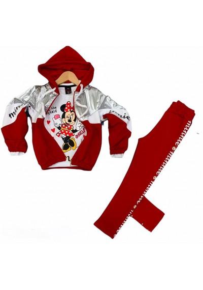 Minnie φόρμα το κόκκινο ,3 κομμάτια