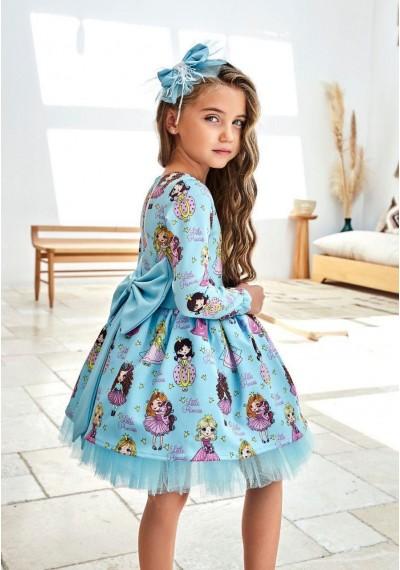 WB Girls Design Dress Long Sleeve