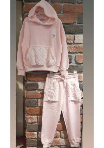 LT Hollywood Tracksuit with Fur Pink