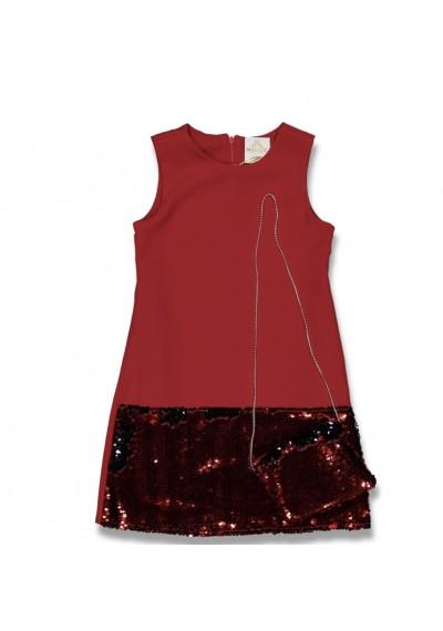 LT Φόρεμα Sequin με τσάντα