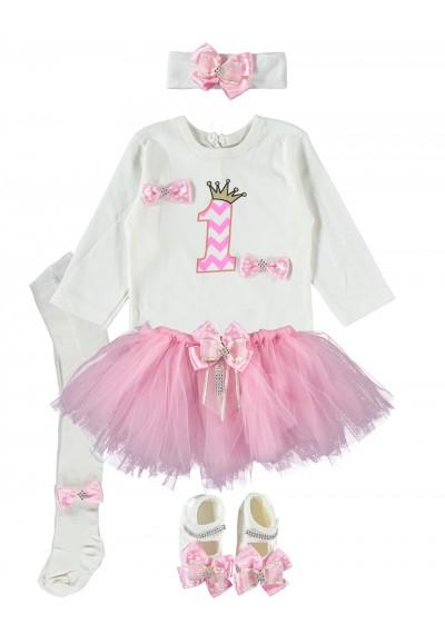 Κορίτσι μωρών πρώτος γενέθλια μπαλαρίνα Σετ δώρου